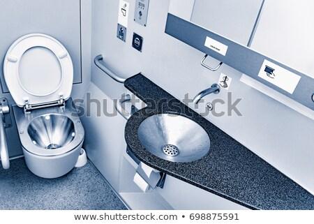 Trein toilet behandelen gehandicapten mensen water Stockfoto © Hochwander