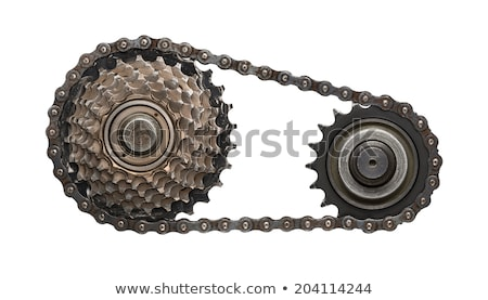 Rusty Gears and Chain Background Stock photo © feverpitch