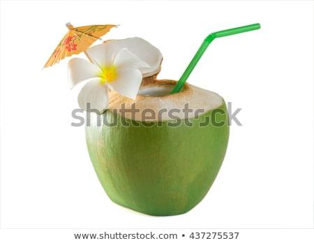 Fresh coconut drink Stock photo © dezign56