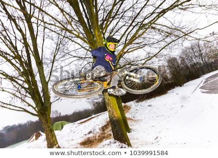 мальчика · прыжки · нарастить · счастливым · свет · велосипедов - Сток-фото © meinzahn