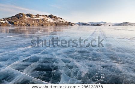 Gelo superfície icebergue branco padrão Foto stock © Arrxxx
