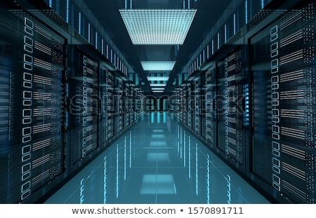веб-сервер иллюстрация компьютеры сервер стрелка тень Сток-фото © Krisdog