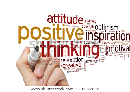 Positive Thinking - Word Cloud Concept. Stock photo © tashatuvango
