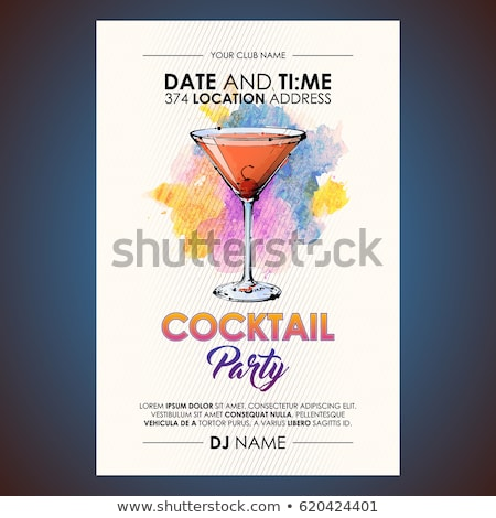 cocktail party poster stock photo © creator76