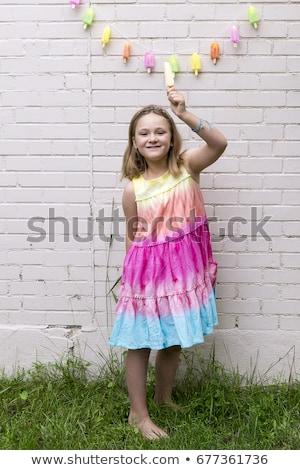 魅力的な女の子 カラフル 光 パーティ キャンディー 魅力的な ストックフォト © fotoduki