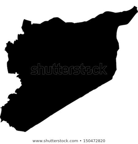 Mapa Síria diferente símbolos branco mundo Foto stock © mayboro1964