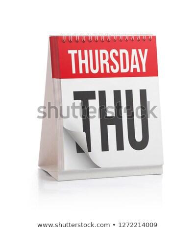 Thursday Calendar Schedule Blank Page Stock photo © stevanovicigor