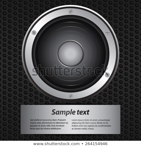 Music party invite with big speaker and sample text Stock photo © elaine