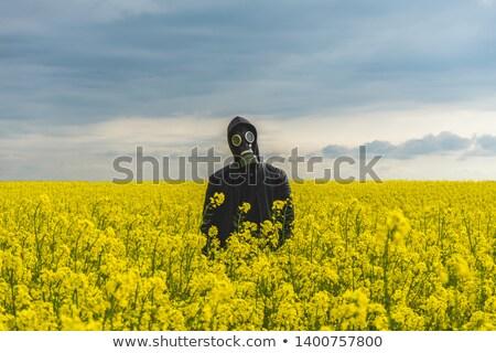 Gaz maskesi yalıtılmış beyaz yüz çocuk Stok fotoğraf © papa1266