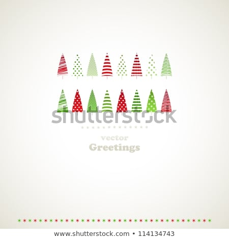 Christmas tree on a green stripped background Stock photo © Anna_leni