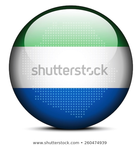 map with dot pattern on flag button of republic sierra leone stock photo © istanbul2009