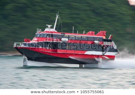 白 · ローイング · ボート · ギリシャ · 水 · 太陽 - ストックフォト © jarin13