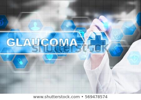 Tablet diagnose glaucoma display computer arts Stockfoto © Zerbor