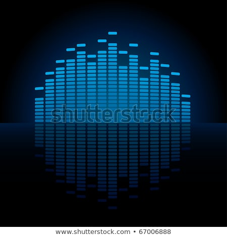 Blue Graphic Equalizer Display Stock photo © almagami
