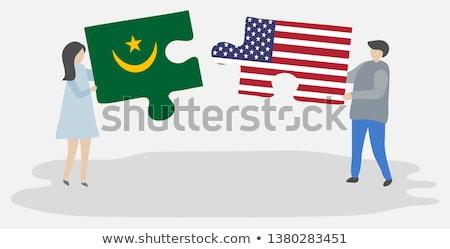 флаг · Мавритания · карта · фон · знак · путешествия - Сток-фото © istanbul2009