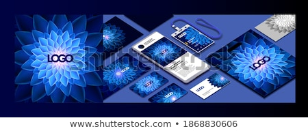 modern business card mockup for your corporate cards backgrounds stock photo © davidarts