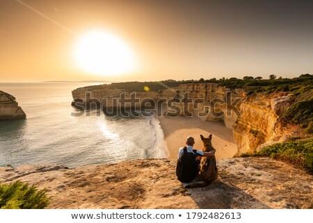 美しい · 崖 · ポルトガル · 海岸 · 風景 · ビーチ - ストックフォト © compuinfoto