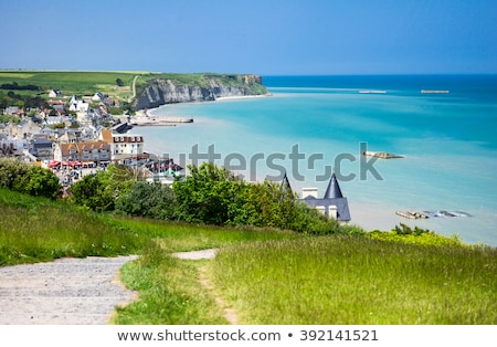 arromanches normandy france stock photo © phbcz
