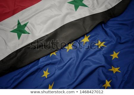 Europeu união Síria bandeiras quebra-cabeça isolado Foto stock © Istanbul2009