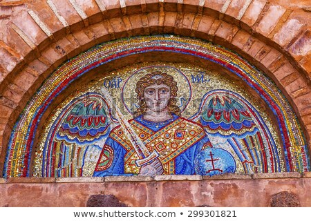 Ancient Saint Michael Mosaic Mikhaylovsky Church Vydubytsky Mona Stock photo © billperry