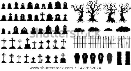 Mezar taşı örnek çapraz kilise ölüm ölü Stok fotoğraf © adrenalina