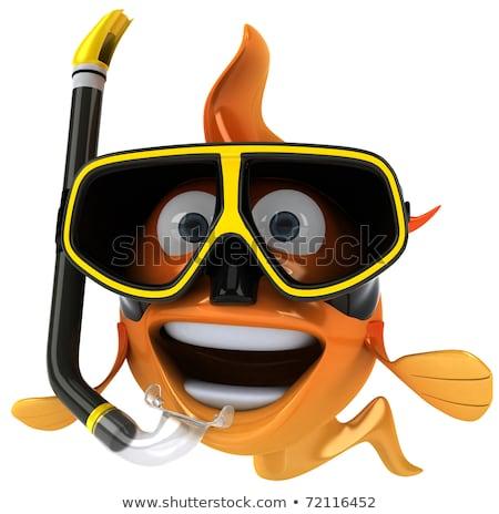 red fish with scuba mask Stock photo © adrenalina