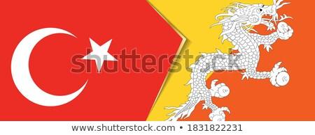 Turquia Butão bandeiras quebra-cabeça isolado branco Foto stock © Istanbul2009