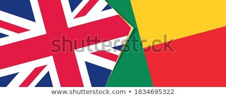 Royaume-Uni Bénin drapeaux puzzle isolé blanche Photo stock © Istanbul2009
