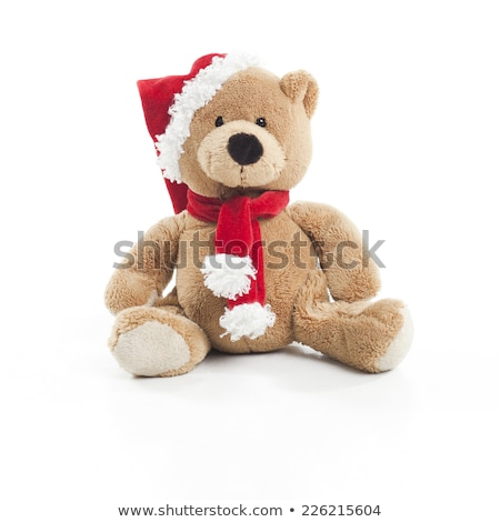 Christmas Bear isolated over white background Stock photo © ivonnewierink