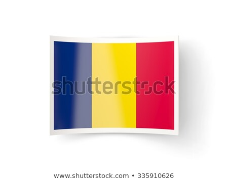 Bent icon with flag of chad Stock photo © MikhailMishchenko