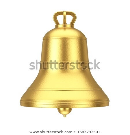 Big bell on white Stock photo © cherezoff