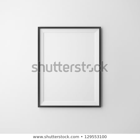 black frames on thewhite wall Stock photo © Paha_L