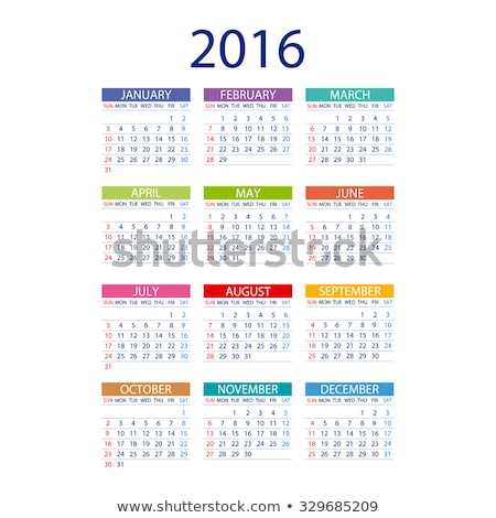 2016 calendar simple design art date color Stock photo © rommeo79