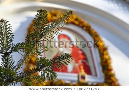 Hiver croix noir forêt Allemagne arbre Photo stock © Hasenonkel