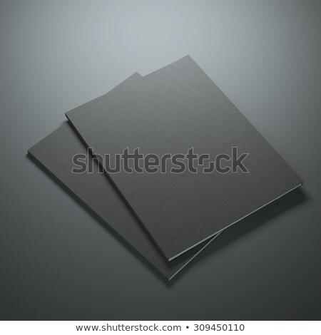 vel · papier · twee · zwarte · abstract · gebroken - stockfoto © cherezoff