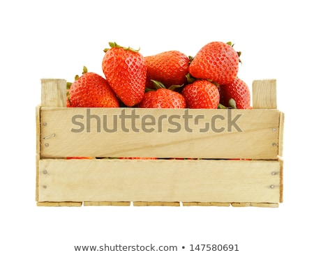 Single wooden fruit crate Stock photo © ozgur