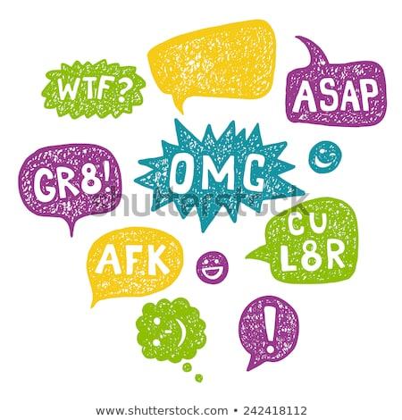 AFK internet acronym chat bubble illustration Stock photo © kiddaikiddee