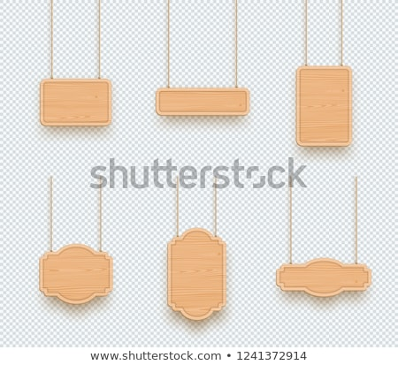 Wooden Rectangle Banners Set Stock photo © Voysla