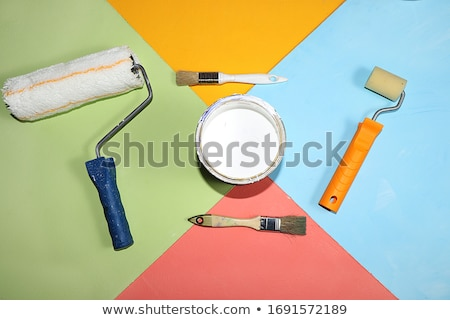 Spatula, paint roller and brush. Stock photo © RAStudio