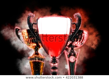 Trophy cup textured with flag of Poland. Digital illustration Stock photo © Kirill_M