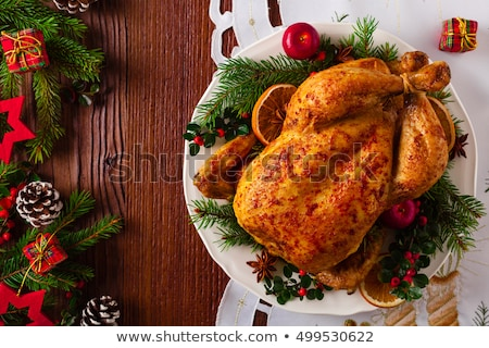 ローストチキン · 肉 · ジャガイモ · 食品 · 鶏 · ディナー - ストックフォト © digifoodstock
