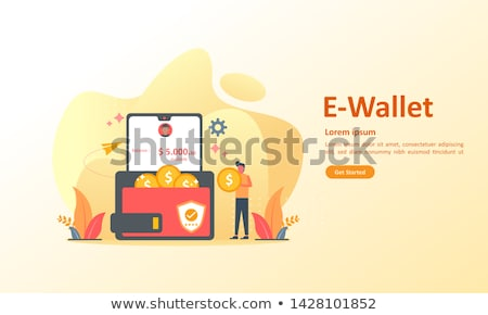 Flat Digital Wallet Secure Transaction concept Stock photo © WaD