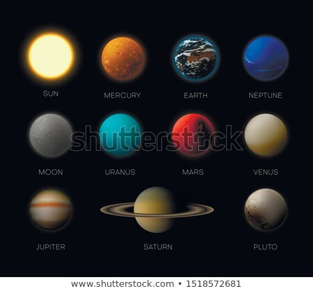 vector realistic planet saturn illustration stock photo © trikona