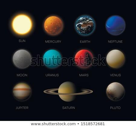 vector realistic planet Saturn illustration Stock photo © TRIKONA