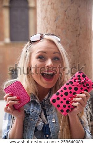 Toeristische Europa geld blond meisje winkelen Stockfoto © Giulio_Fornasar