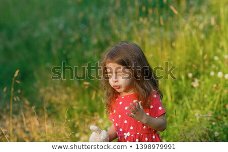 little girl sneeze or funny face stock photo © giulio_fornasar