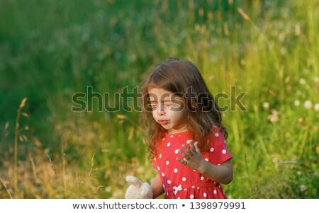 little girl sneeze or funny face Stock photo © Giulio_Fornasar