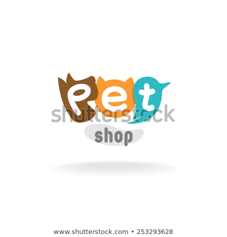 red blue and brown logo shapes and icons of letter a stock photo © cidepix