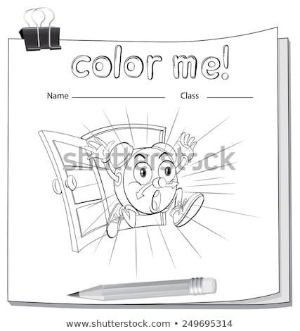 A color me worksheet with a clock Stock photo © bluering