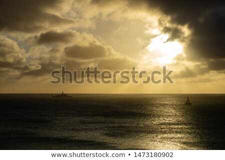 sunset over caribbean sea mar stock photo © phbcz